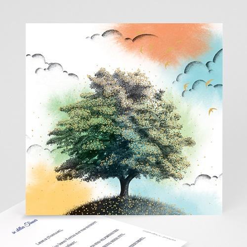 Kondolenzkarten Lebensbaum, 14,5 x 15 cm