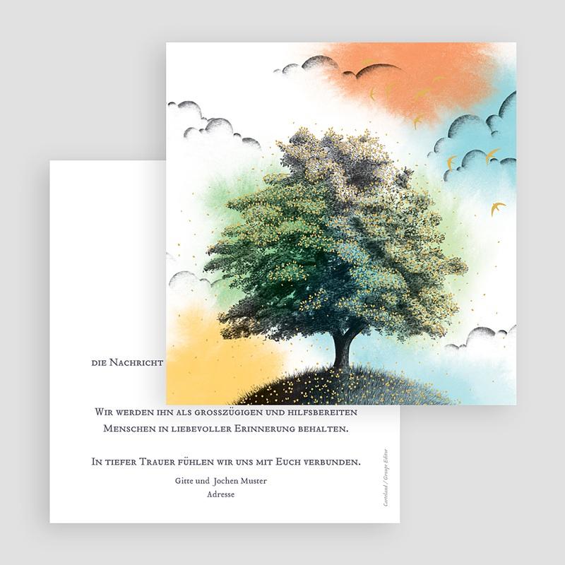 Kondolenzkarten Lebensbaum, 14,5 x 15 cm gratuit