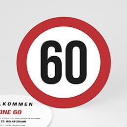 Einladungskarten Geburtstag - Zone 60 - 0