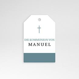 Adressaufkleber - Kreuz, blauer Hintergrund, 4.5 cm - 0