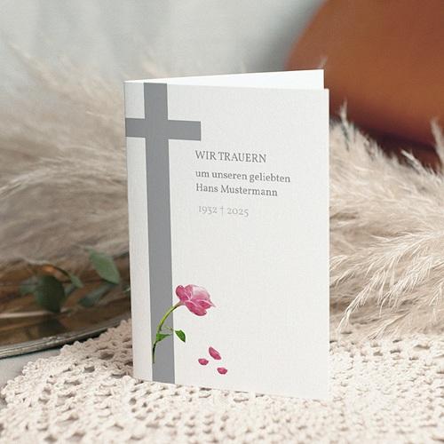 Trauer Danksagung christlich - Ave Maria 8620