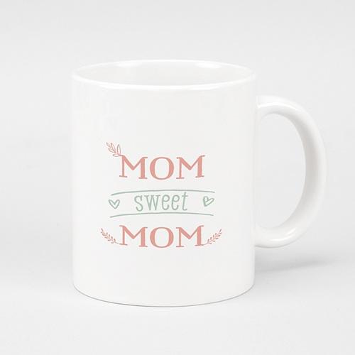 Personalisierte Fototassen Muttertag Mom sweet MOM, 1 Foto