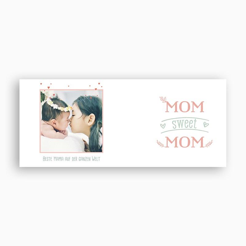 Personalisierte Fototassen Muttertag Mom sweet MOM, 1 Foto pas cher
