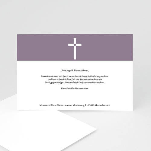Trauer Danksagung christlich - Kondolenz 8624 test