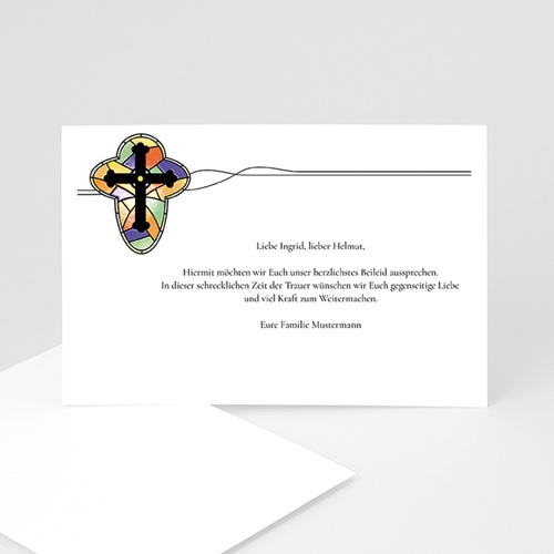 Trauer Danksagung christlich - Licht der Hoffnung 8628