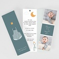 Geburtskarten für Jungen Grüner Baby body, Fotos, Lesezeichen