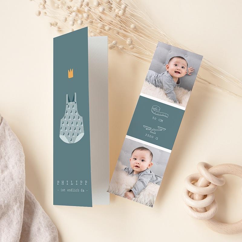 Geburtskarten Grüner Baby body, Fotos, Lesezeichen