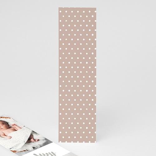 Geburtskarten für Mädchen Glücksbär, Granat