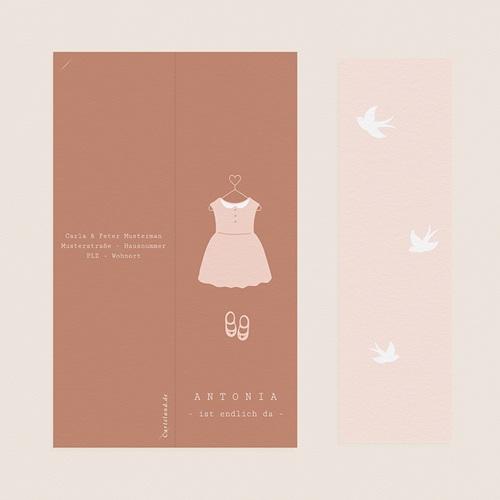 Geburtskarten Rosa Kleid, Fotos, Lesezeichen pas cher