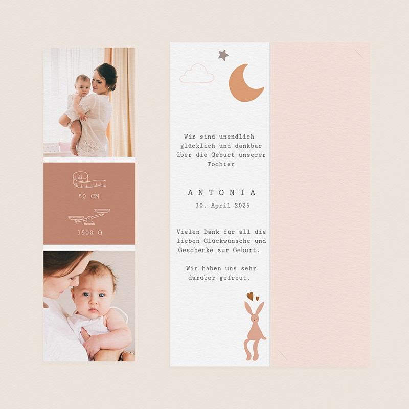 Geburtskarten Rosa Kleid, Fotos, Lesezeichen gratuit