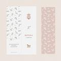 Geburtskarten für Mädchen Ein Hauch von Glück, zartes Rosa pas cher