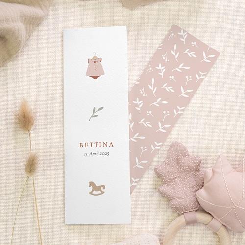 Geburtskarten für Mädchen Ein Hauch von Glück, zartes Rosa