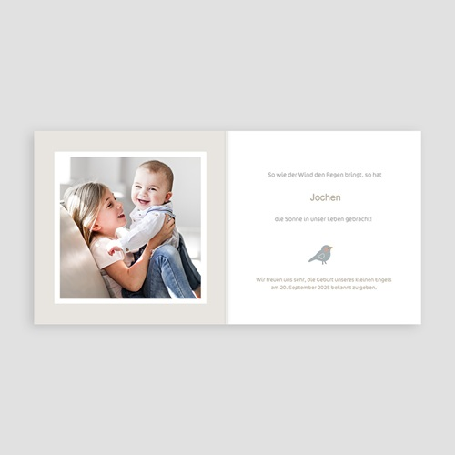 Geburtskarten für Jungen Knabenbluse, kleines Küken pas cher
