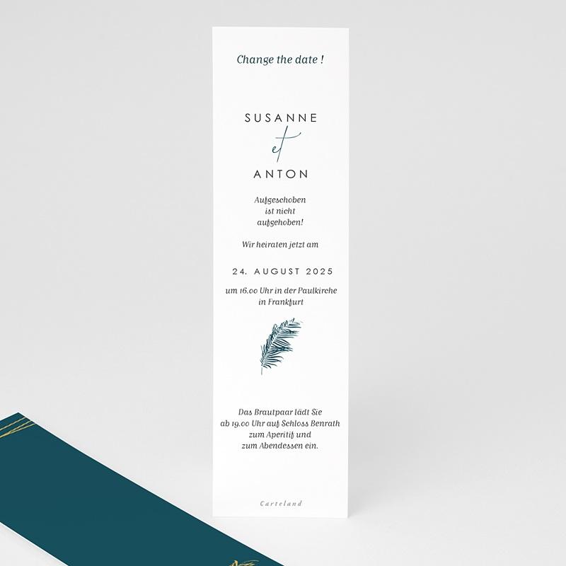 Change The Date Hochzeitskarten Inchyra blue, neues Datum pas cher