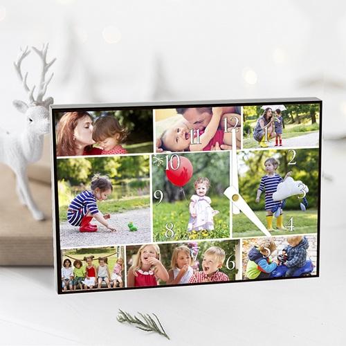 Personalisierte Fotouhr Erinnerungen pas cher