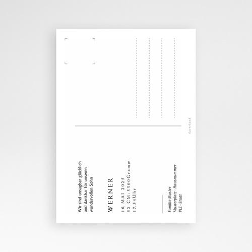 Geburtskarten für Jungen Postkarte, Baby Boy, Gold pas cher