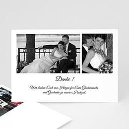 Danksagungskarten Hochzeit  Schwarz Weiss