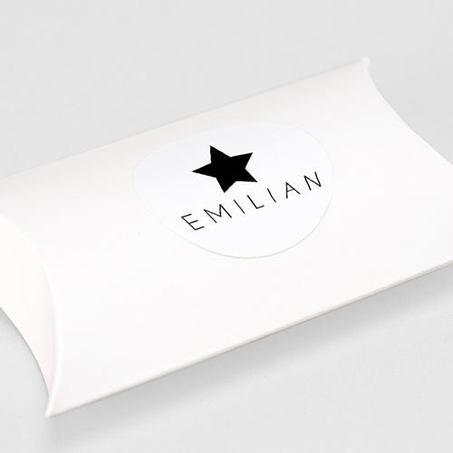 Aufkleber Geburt Schwarzer Stern, 4, 5 cm gratuit