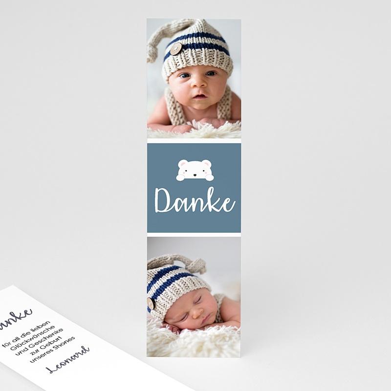 Dankeskarten Geburt Lesezeichen Bar, 2 fotos