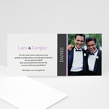 Dankeskarten Standesamt - Hochzeitskarte Herz pur - 1