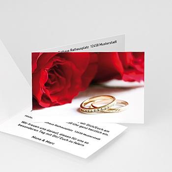 Hochzeitseinladungen modern - Rosenhochzeit - 1