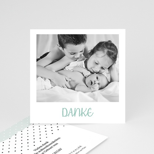 Dankeskarten Geburt Pastell-Mint, Foto