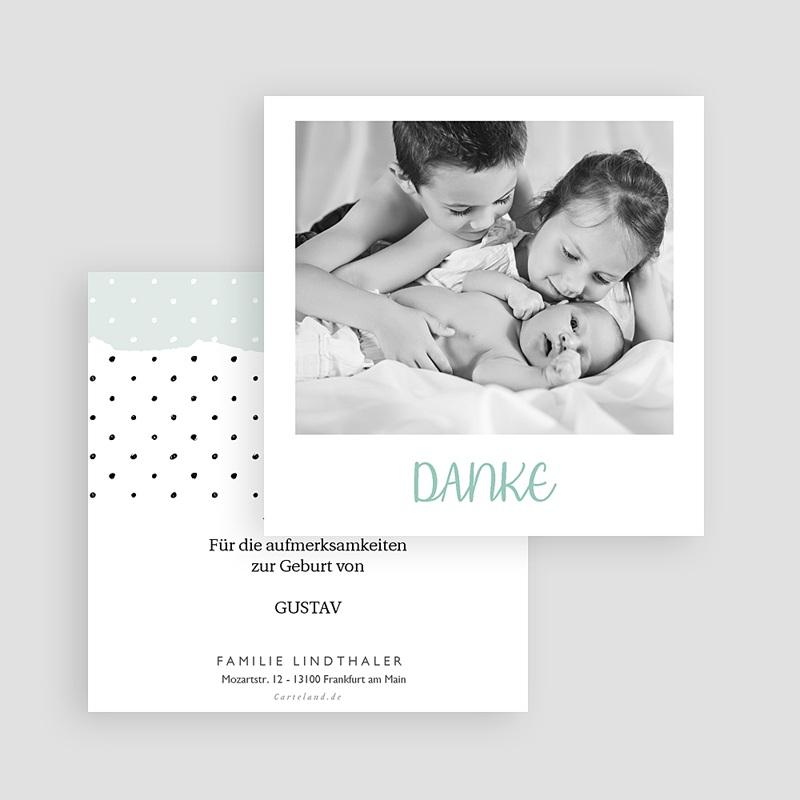 Dankeskarten Geburt Pastell-Mint, Foto gratuit