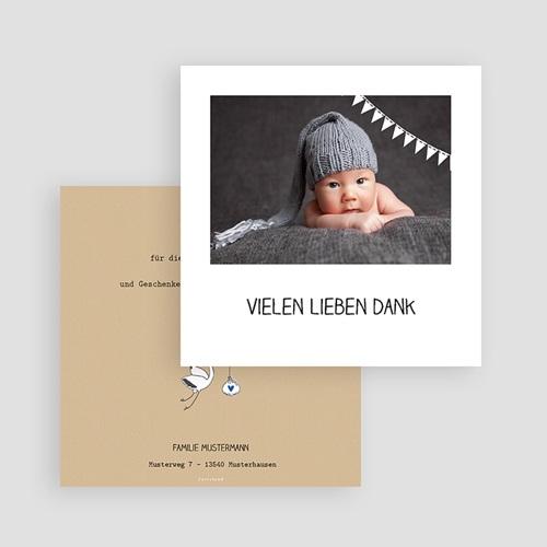 Dankeskarten Geburt Storch, Kraft & Foto gratuit