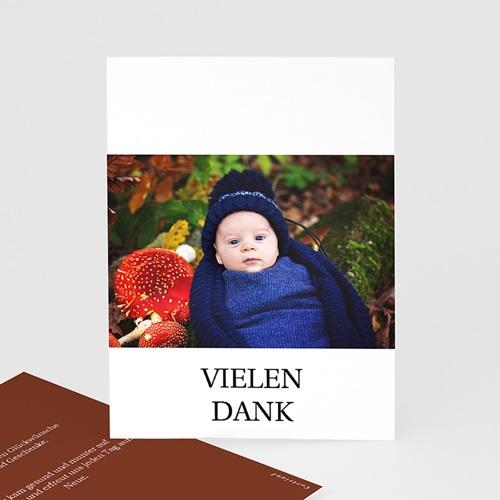 Dankeskarten Geburt Roter Fuchs, Foto