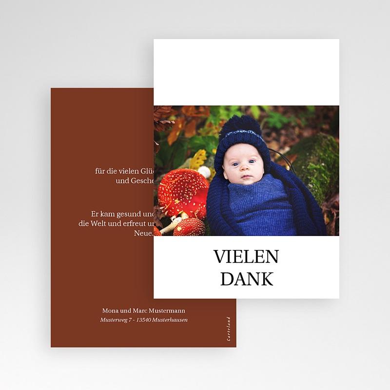 Dankeskarten Geburt Roter Fuchs, Foto pas cher