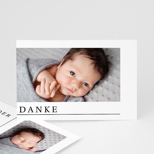 Dankeskarten Geburt Zwei Fotos, Postkarte