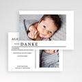 Dankeskarten Geburt Zwei Fotos, Postkarte pas cher