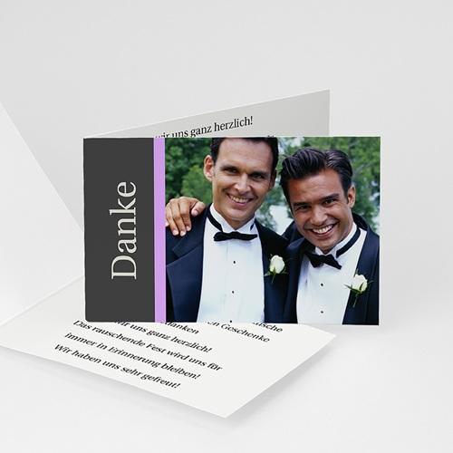 Dankeskarten Standesamt - Hochzeitskarte Herz pur 1 878