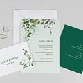 Hochzeitseinladungen Eucalyptus, floral, 3 in 1