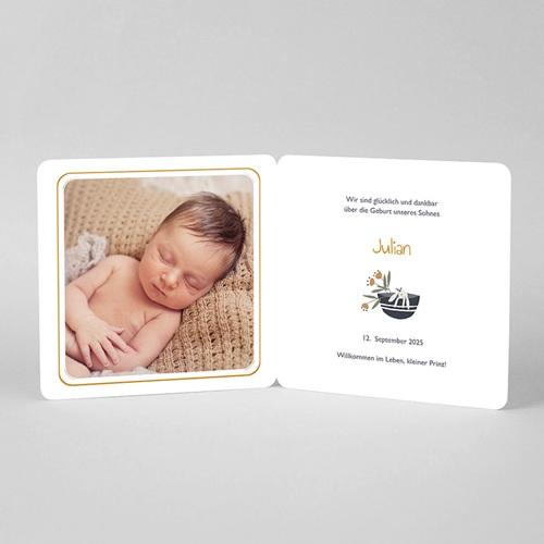Geburtskarten für Jungen Glückskorb mit rundem Anhänger pas cher