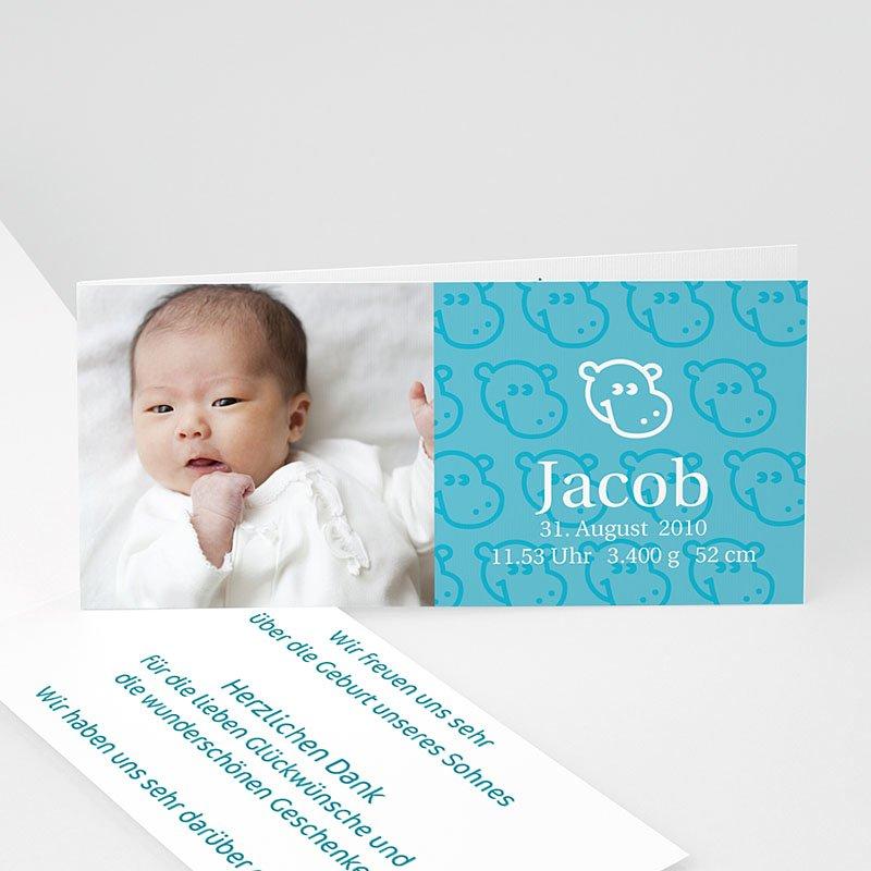 Geburtskarten für Jungen Nilpferd