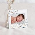 Dankeskarten Geburt für Jungen Aquarel Feder, 1 Foto