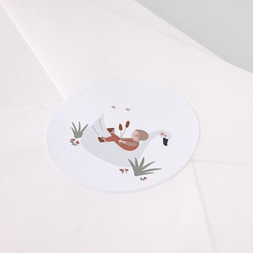 Aufkleber Geburt Babyschwan, Sticker pas cher