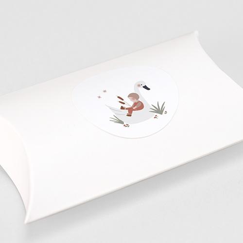 Aufkleber Geburt Babyschwan, Sticker gratuit