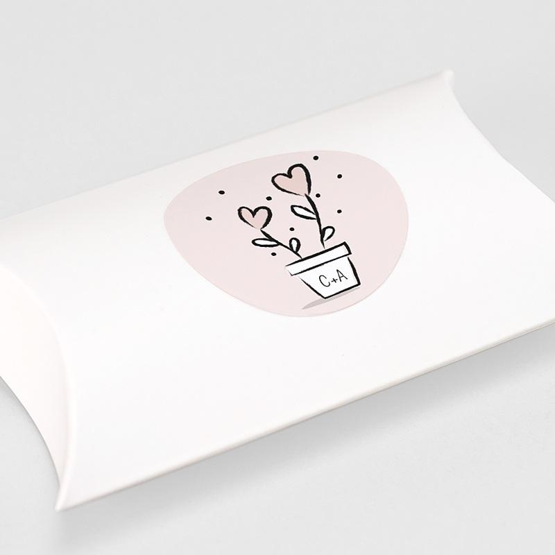 Aufkleber Hochzeit 2 Herzen, Sticker gratuit