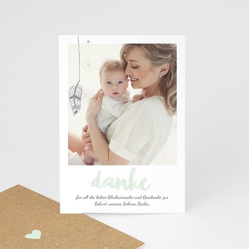 Dankeskarten Geburt für Jungen Traumfänger Boy, Foto & Kraft