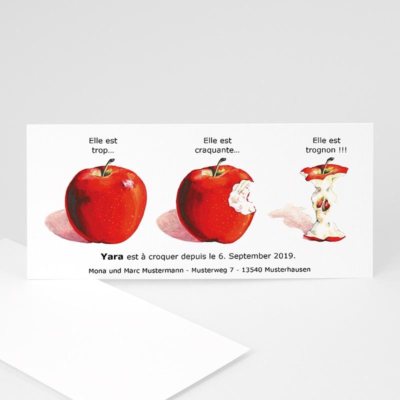 Geburtskarten für Mädchen - Apfel 8855 thumb