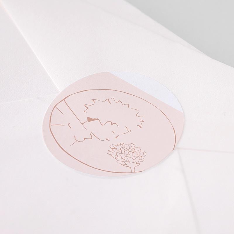 Aufkleber Geburt Die Rose des kleinen Prinzen, Sticker pas cher
