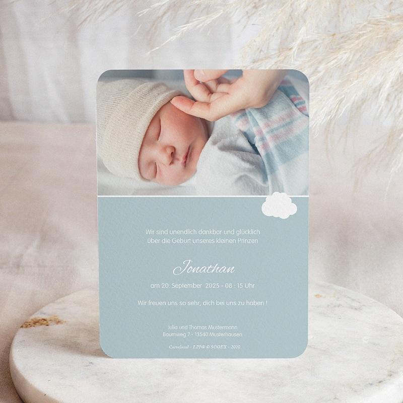 Geburtskarten Der Kleine Prinz Kleiner Prinz im Flugzeug, blau pas cher