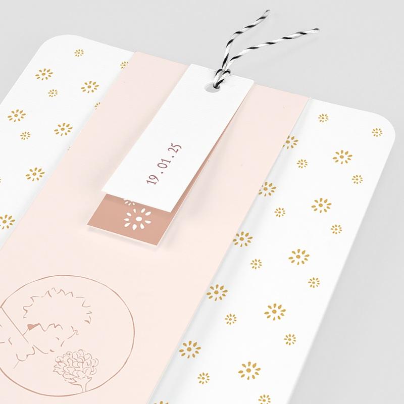 Geburtskarten Der Kleine Prinz Die Rose des kleinen Prinzen, 3 Etiketten pas cher