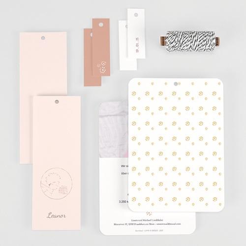 Geburtskarten Der Kleine Prinz Die Rose des kleinen Prinzen, 3 Etiketten gratuit