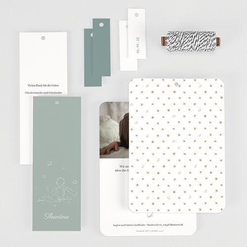 Geburtskarten Der Kleine Prinz Der Freund des Kleinen Prinzen, 3 Etiketten gratuit
