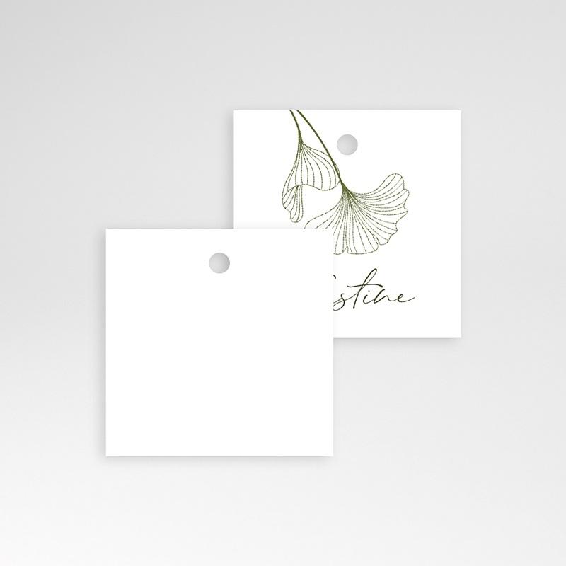Tischkarten Hochzeit Ginkgo Biloba, 4,5 x 4,5 cm pas cher