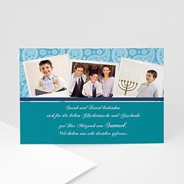 Danksagungskarten Bar Mitzvah Levin