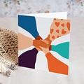 Geschäftliche Weihnachtskarten Bruderschaft, Schwesternschaft, Alle vereint